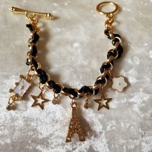 New Bracelet Paris Eiffel Tower Star Jewelry Chain